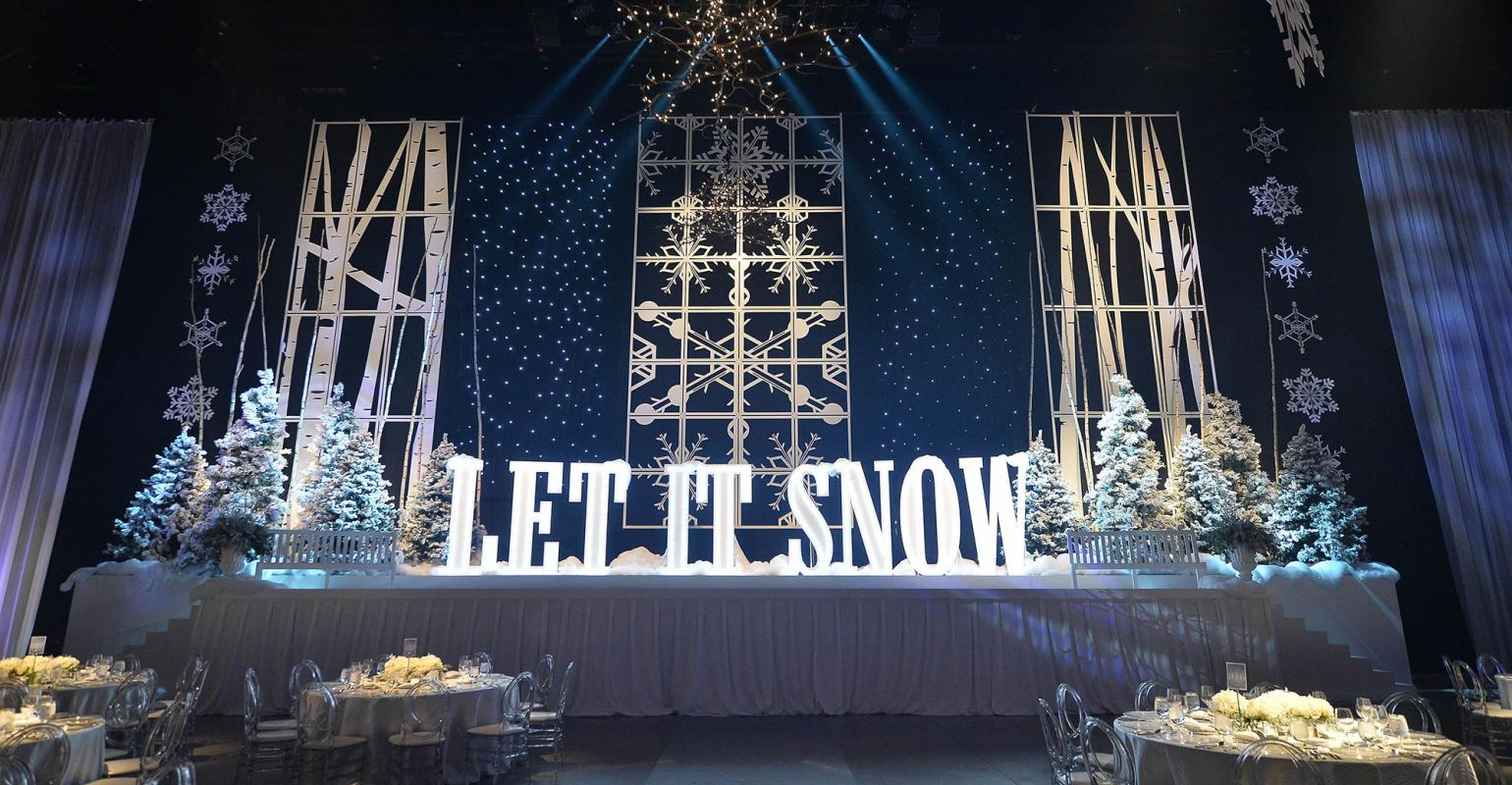 Decor And More Creates A Winter Wonderland Theme Special Event Special Events