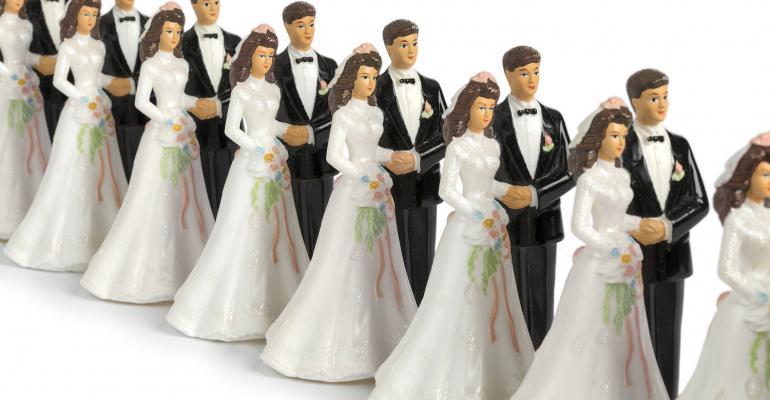 Many wedding couples