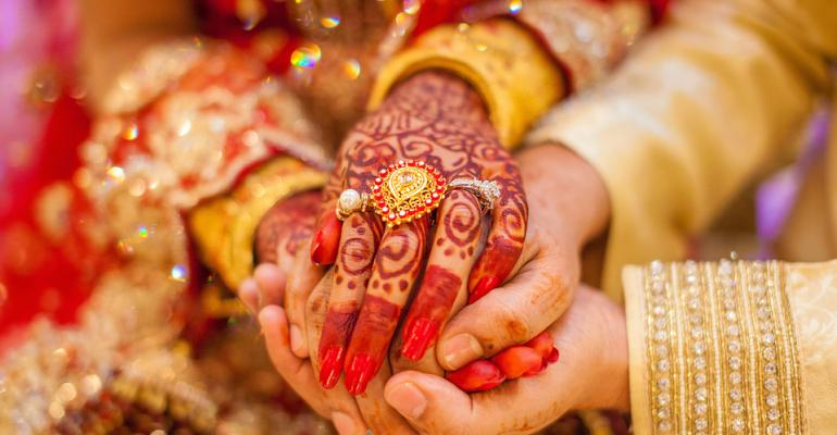 Indian wedding hands