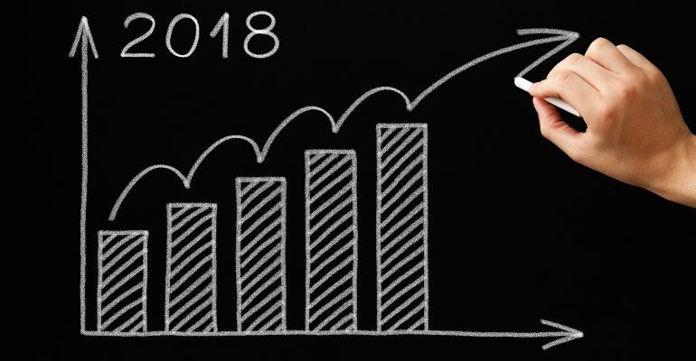 2018 economic forecast chalkboard