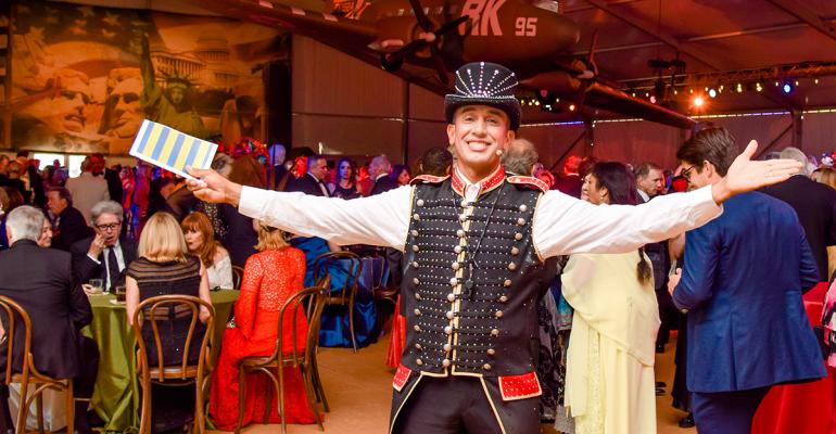 Ringmaster at vintage circus party