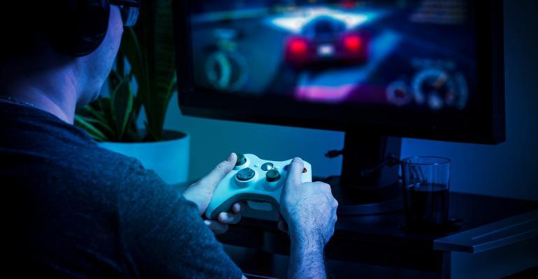 Gamer in the dark