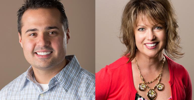 Jeremy Halaska and Debbie Halkovics