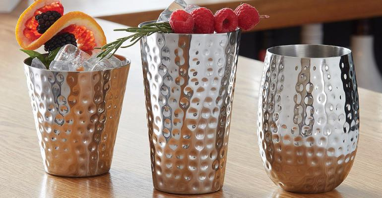 Hammered glasses from Amerian Metalcraft