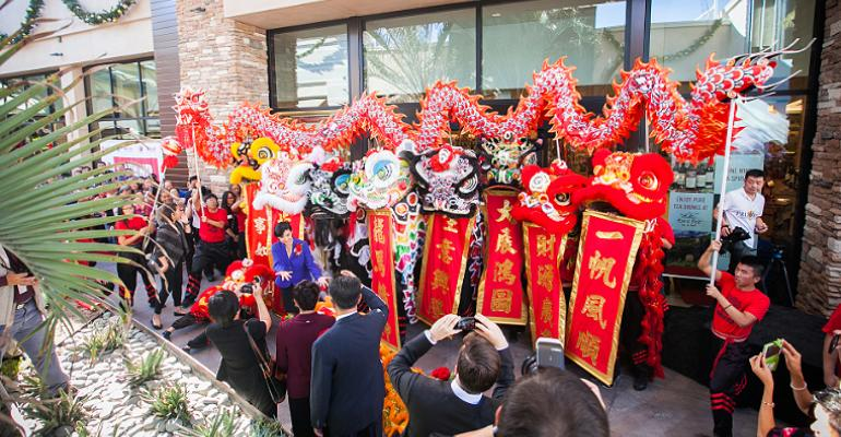 Lion dance for lunar new year