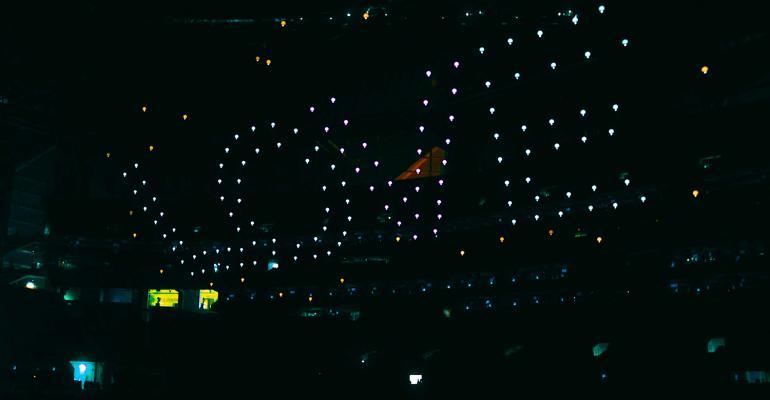Drones at Super Bowl halftime 2019