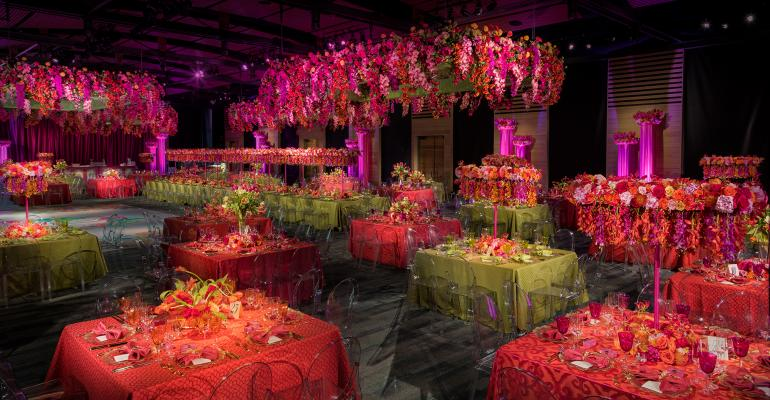 Colorful wedding floral