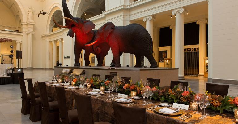 Dinner at Field Museum