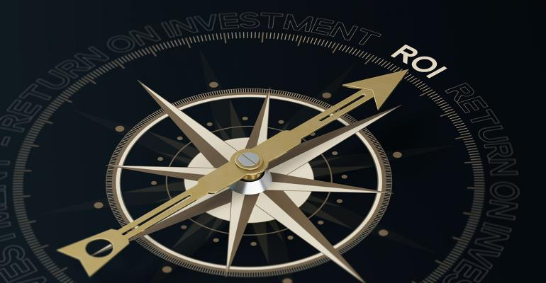Compass showing return on investment