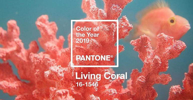 pantone names living coral color of the year for 2019 special events. Black Bedroom Furniture Sets. Home Design Ideas