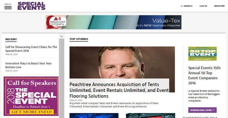 SpecialEvent.com screen grab new design