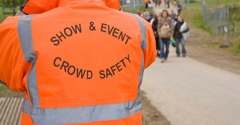 Safety guard at event