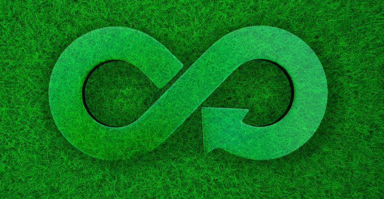 Sustainability infinity loop