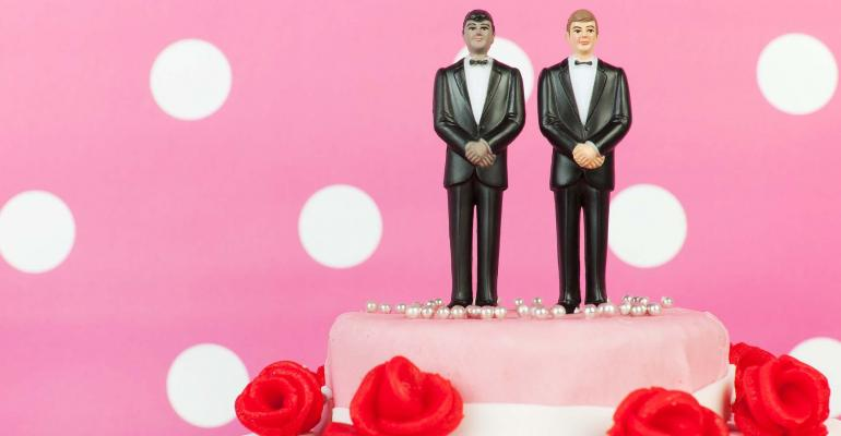Two Grooms Cake