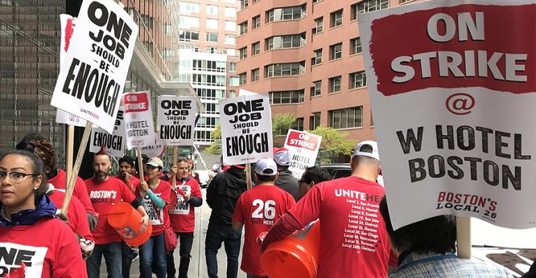 Boston hotel strike