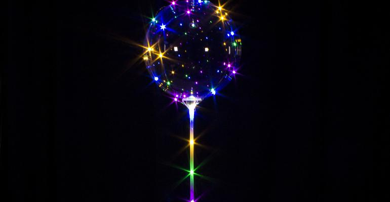 Windy City Lollipop LED balloon