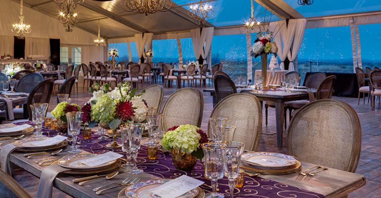Vineyard wedding from Marquee