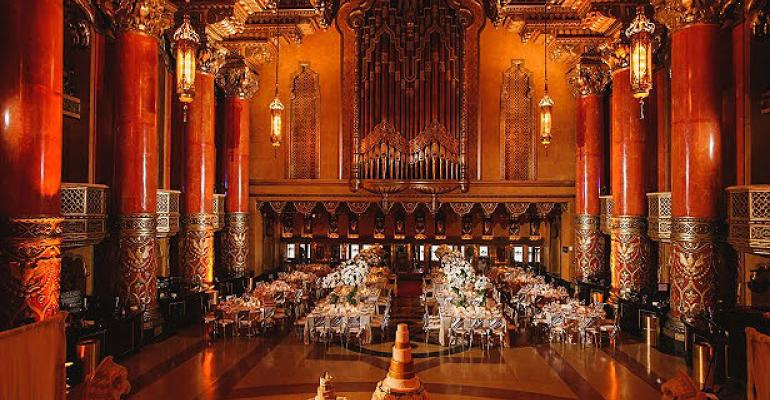 Fox Theatre Detroit for wedding reception