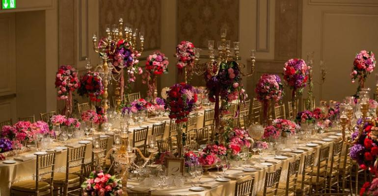 Old World Wedding: KBY Designs Gives a Brand-new Ballroom a Rich Look