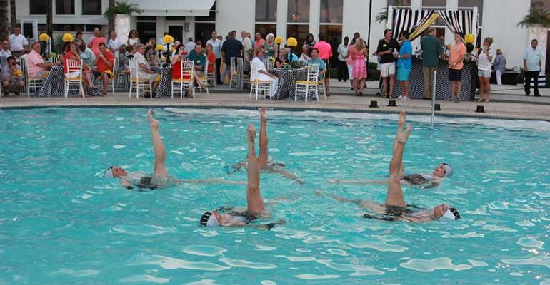 Synchronized swimmers at Boca incentive