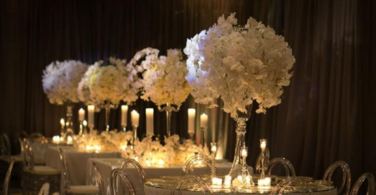 White orchid wedding