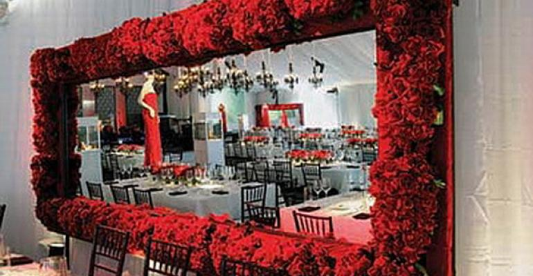 Red-hot: Red Makes Bold Decor Statement at Special Events
