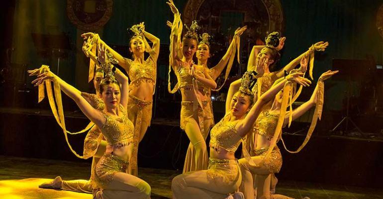 Dance troupe at 2015 Daffodil Ball themed Shanghai Silk