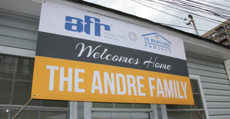 AFR volunteers refurbish a home in wake of Hurricane Sandy