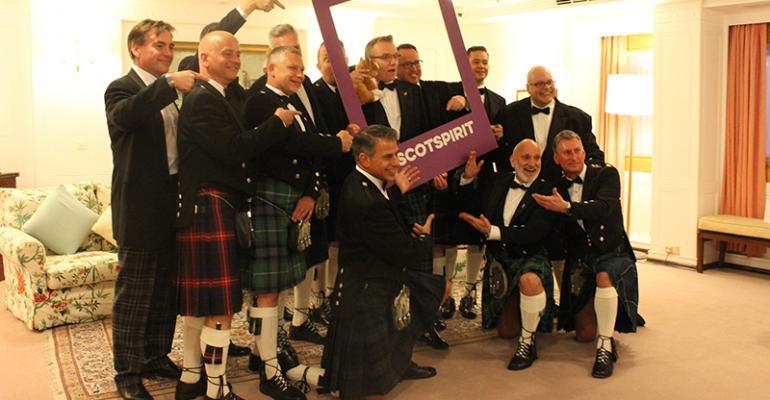 Visit Scotland delegates in kilts