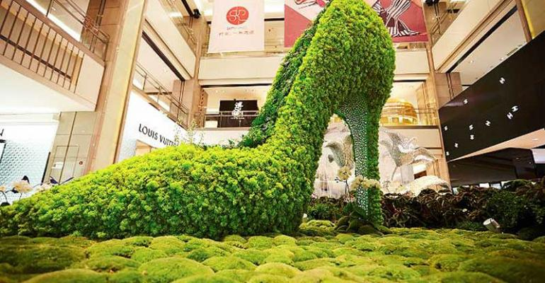Giant floral shoe from The Precious Moment