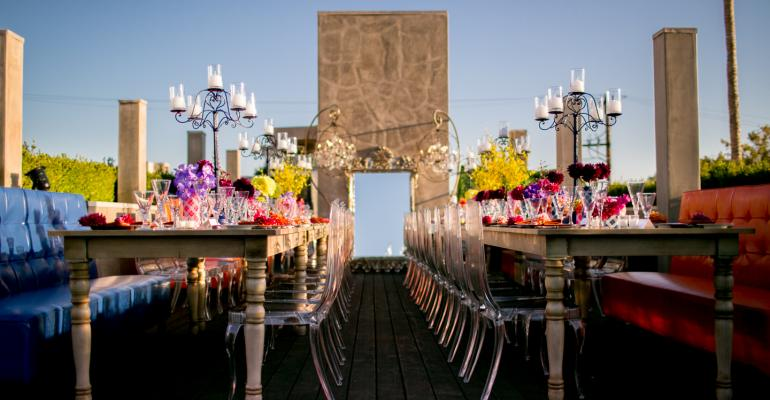 Rooftop dinner at Vivienne Westwood store by Exquisite Events