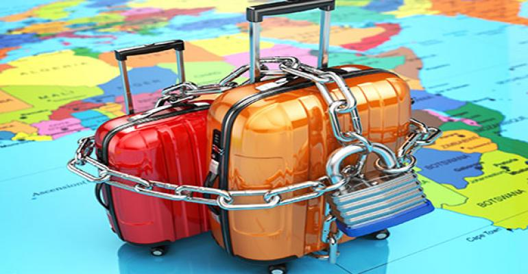 Locked luggage