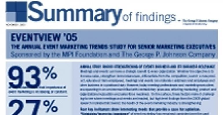 Latest MPI/GPJCO study shows boost in event marketing