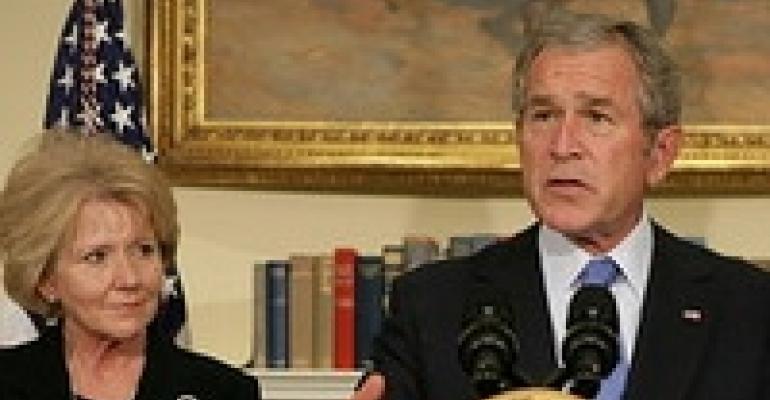 Bush Tries to Clear Skies