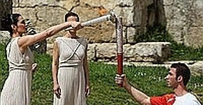 Olympic Torch Relay Starts Media Race