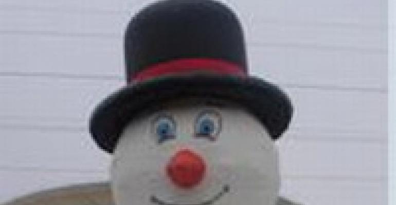 New Snowman Bounce House, Big DJ Touch-screen, Anti-slip Mats