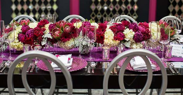 High, Low, Floral, Non-floral: Event Centerpieces Mix it All Up Today
