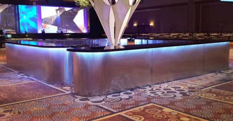 New Diamond Plate Bars, Ruched Highboy Covers, 3D Rendering Option In  Social Tables