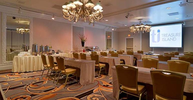 Remodeled event space at Treasure Island Las Vegas