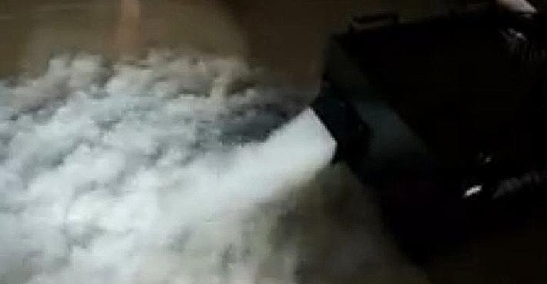 New Fog Machine, Custom-printed Floor Wraps, LED Stools