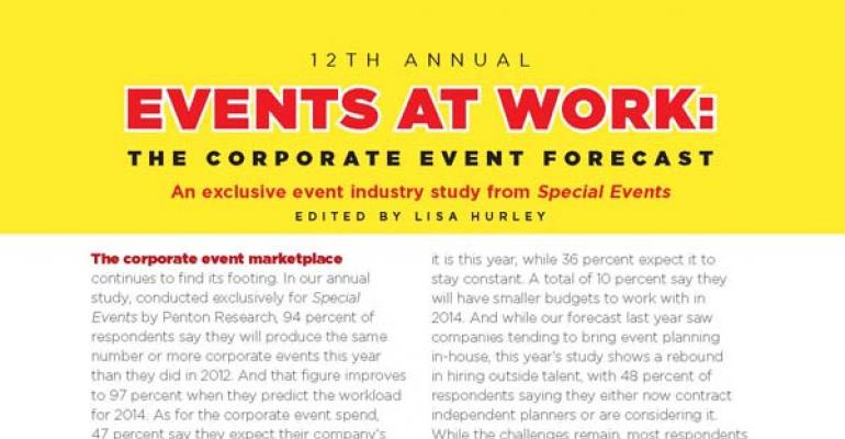 12th Annual Events at Work: Corporate Event Forecast