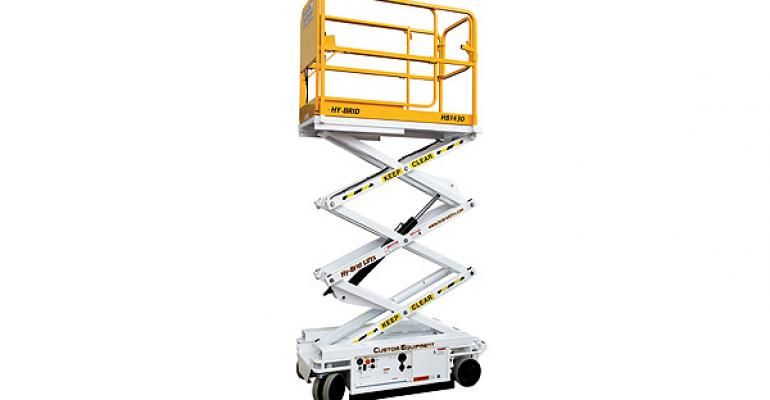 Lightweight Scissor Lift, New CF LED Tiles, Silk Holiday Decor
