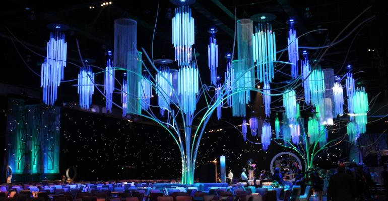 Images by Lighting creates a stunning 39tree39 for the 2013 Emmy Awards Governors Ball produced by Sequoia Productions Photo by Special Events