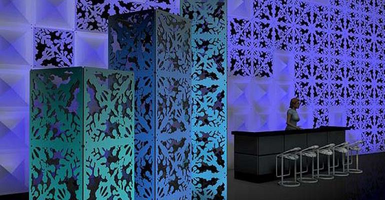 New Atomic Modular Panels, Designer8 Pillow Collection, Rose Brand Event Carpets