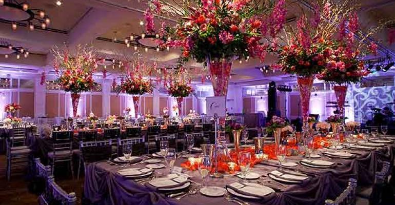 A beautiful ballroom at the Omni Barton Creek