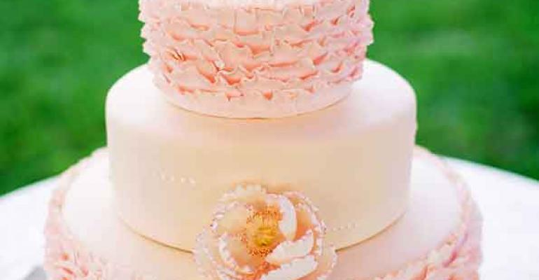 A prettyinpink cake from Beaux Gateaux Photo by Erika Manzano of This Love of Yours Photography for Cassy Rose Events San Francisco