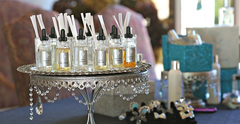 Guests create custom perfumes with Pastiche Custom Perfume