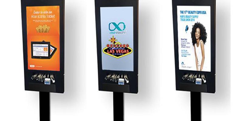 DSK branded phone charging station