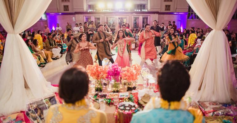 Desi mehndi ceremony