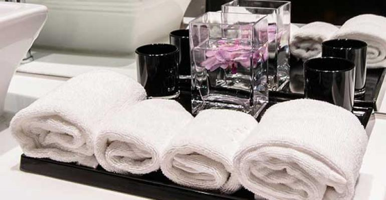 hotel bathroom reuses towels